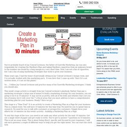 10 Minute Marketing Plan