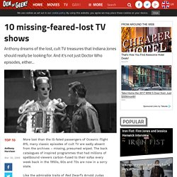 10 missing-feared-lost TV shows