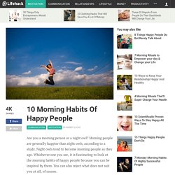 10 Morning Habits Of Happy People