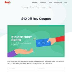 $10 Off Rev Coupon - Rev