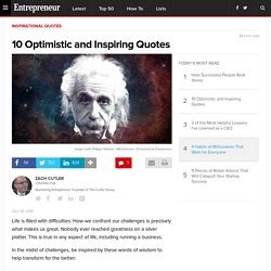 10 Optimistic and Inspiring Quotes