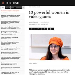 10 powerful women in video games