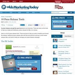 10 Press Release Tools