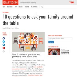 10 questions to ask around the table