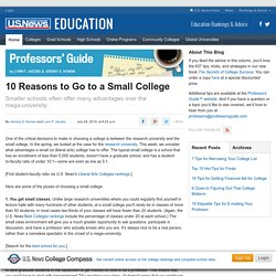 10 Reasons to Go to a Small College