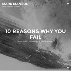 10 Reasons Why You Fail