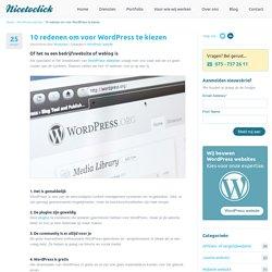 10 redenen om voor WordPress te kiezen