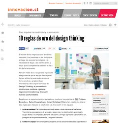 10 reglas de oro del design thinking