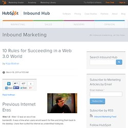 10 Rules for Succeeding in a Web 3.0 World