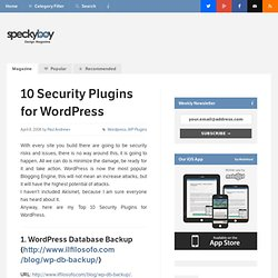 Top 10 Security and Protection Plugins for Wordpress | Speckyboy