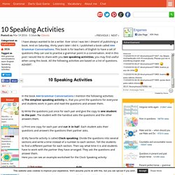 10 Speaking Activities