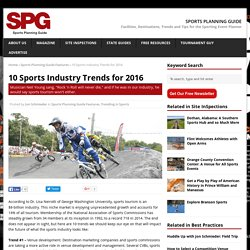 10 Sports Industry Trends for 2016