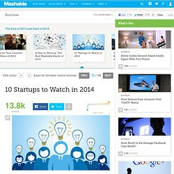 10 Startups to Watch in 2014