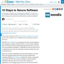 10 Steps to Secure Software