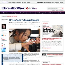 10 Tech Tools To Engage Students