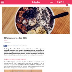 10 tendances food en 2016