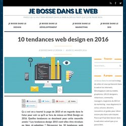 10 tendances web design en 2016