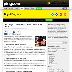 10 things that will happen in Search in 2010 | Royal Pingdom - F