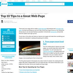 10 Tips to a Great Web Page