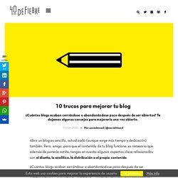 10 trucos para mejorar tu blog