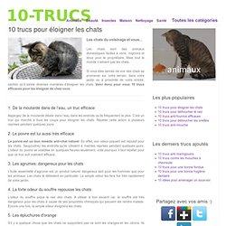10 trucs pour éloigner les chats