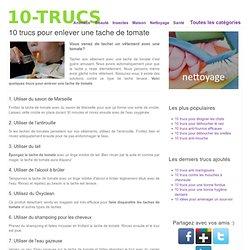 10 trucs pour enlever une tache de tomate