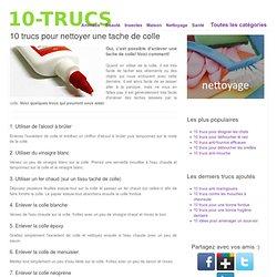10 trucs pour nettoyer une tache de colle