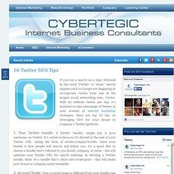 10 Twitter SEO Tips – CyberBlog