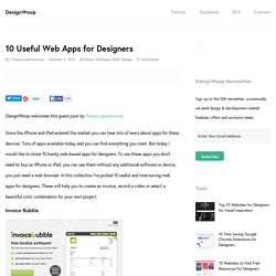 10 Useful Web Apps for Designers | Design Woop | The Web Design and... - StumbleUpon