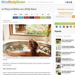 10 Ways to Detox on a Daily Basis