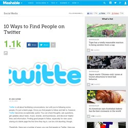 10 Ways to Find People on Twitter