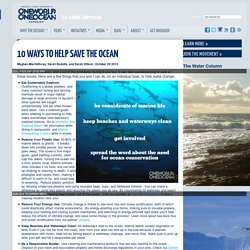 10 Ways to Help Save the Ocean
