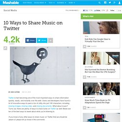 10 Ways to Share Music on Twitter - Flock