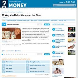 10 Ways to Make Money on the Side