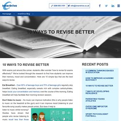 10 Ways To Revise Better