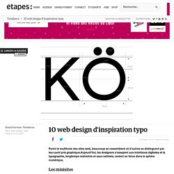 10 web design d'inspiration typo