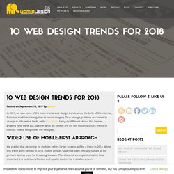 10 Web Design Trends for 2018