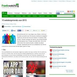 10 webdesigntrends voor 2013
