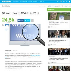 10 Websites to Watch in 2011