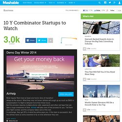 10 Y Combinator Startups to Watch