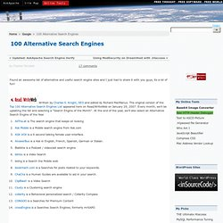 100 Alternative Search Engines