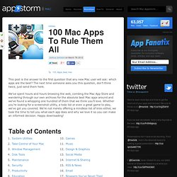 100 Mac Apps To Rule Them All