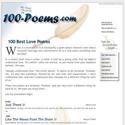 100 Best Love Poems #1