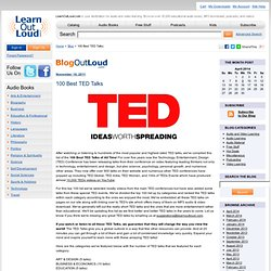 100 Best TED Talks - Blog Out Loud