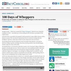 100 Days of Whoppers - FactCheck.org
