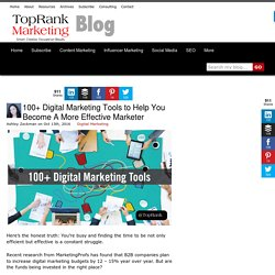 100+ Digital Marketing Tools
