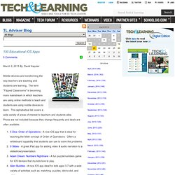 - 100 Educational iOS Apps