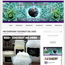 100 Everyday Coconut Oil Uses