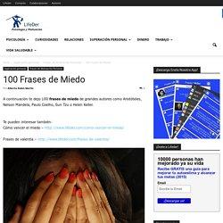 100 Frases de Miedo