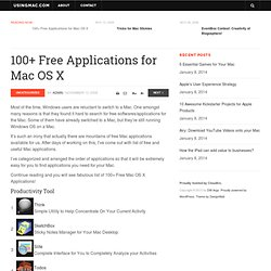 100+ Free Applications for Mac OS X